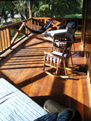front porch upstairs at the beach vill in costa rica